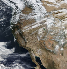 earth-observing satellites as they pass overhead in the western US
